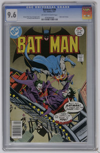 Batman #286 (DC, 1977) CGC NM+ 9.6 Off-white to white pages. Joker cover and story. Jim Aparo cover. Irv Novick and Bob...