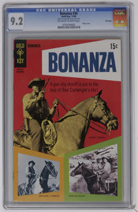 Bonanza #34 File Copy (Gold Key, 1969) CGC NM- 9.2 Off-white to white pages. Photo cover. Overstreet 2006 NM- 9.2 value...