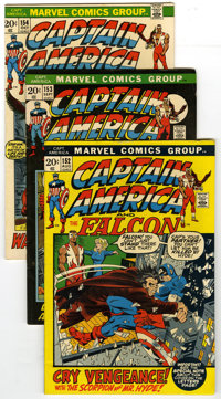 Captain America Group (Marvel, 1972-78) Condition: Average VG/FN. Group of 22 Captain America books includes #152, 153 (...