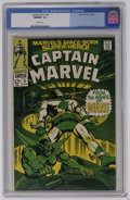 Silver Age (1956-1969):Superhero, Captain Marvel #3 (Marvel, 1968) CGC NM/MT 9.8 White pages. Super-Skrull story. Gene Colan cover and art. Overstreet 2006 NM...