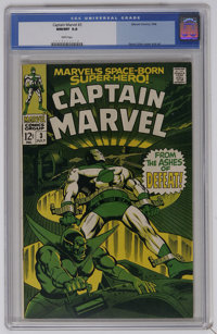 Captain Marvel #3 (Marvel, 1968) CGC NM/MT 9.8 White pages. Super-Skrull story. Gene Colan cover and art. Overstreet 200...