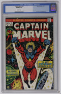 Captain Marvel #29 (Marvel, 1973) CGC NM/MT 9.8 Off-white pages. Jim Starlin and Al Milgrom art. Highest CGC graded issu...