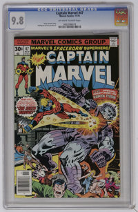Captain Marvel #47 (Marvel, 1976) CGC NM/MT 9.8 Off-white to white pages. Al Milgrom and Terry Austin art. Overstreet 20...
