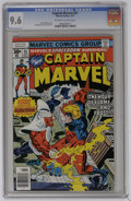 Bronze Age (1970-1979):Superhero, Captain Marvel #51 (Marvel, 1977) CGC NM+ 9.6 Off-white to white pages. Al Milgrom and Terry Austin art. Overstreet 2006 NM-...