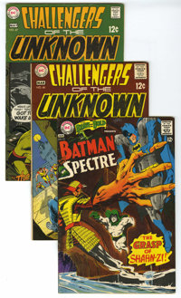 Challengers of the Unknown and Others Group (DC, 1967-73) Condition: Average VG/FN. Group of ten DC Silver Age books inc...