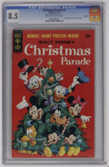 Bronze Age (1970-1979):Cartoon Character, Christmas Parade #7 File Copy (Gold Key, 1970) CGC VF+ 8.5Off-white to white pages. Disney Characters poster included.Over...
