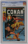 "Bronze Age (1970-1979):Superhero, Conan the Barbarian #5 (Marvel, 1971) CGC NM- 9.2 White pages. Adapted from the poem ""Zukala's Hour"" by Robert E. Howard. Ba..."