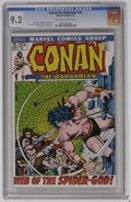 Bronze Age (1970-1979):Superhero, Conan the Barbarian #13 (Marvel, 1972) CGC NM- 9.2 Off-white to white pages. Barry Smith cover and art. Sal Buscema art. Ove...