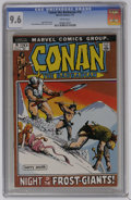 """Bronze Age (1970-1979):Superhero, Conan the Barbarian #16 (Marvel, 1972) CGC NM+ 9.6 White pages. Adapted from the Robert E. Howard story """"The Frost Giant's D..."""