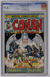 Conan the Barbarian #22 (Marvel, 1973) CGC NM/MT 9.8 Off-white to white pages. Reprints issue #1 (cover goes with story...