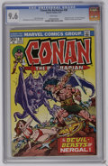 """Bronze Age (1970-1979):Superhero, Conan the Barbarian #30 (Marvel, 1973) CGC NM+ 9.6 White pages. Adapted from the Robert E. Howard and Lin Carter story """"The ..."""