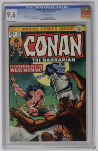 Conan the Barbarian #38 (Marvel, 1974) CGC NM+ 9.6 Off-white pages. Gil Kane cover. John Buscema art. Overstreet 2006 NM...