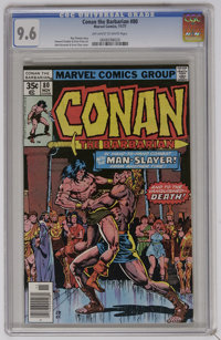 Conan the Barbarian #80 (Marvel, 1977) CGC NM+ 9.6 Off-white to white pages. John Buscema and Ernie Chan cover. Howard C...