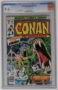 Conan the Barbarian #86 (Marvel, 1978) CGC NM+ 9.6 Off-white to white pages. John Buscema and Ernie Chan art. Overstreet...