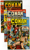 Bronze Age (1970-1979):Miscellaneous, Conan the Barbarian Group (Marvel, 1970-73) Condition: AverageVG/FN. Lot of nineteen Conan the Barbarian comics contain...(Total: 19)