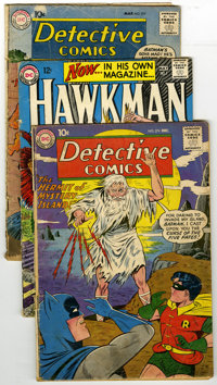 DC Silver Age Group (DC, 1959-70) Condition: Average GD. A copy of Hawkman #1 is a highlight of this group, which also i...
