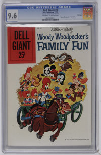Dell Giants #24 Woody Woodpecker's Family Fun - File Copy (Dell, 1959) CGC NM+ 9.6 Off-white to white pages. Walter Lant...