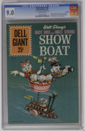 Silver Age (1956-1969):Cartoon Character, Dell Giants #55 Daisy Duck and Uncle Scrooge Showboat (Dell, 1961) CGC VF/NM 9.0. Mickey Mouse, Pluto, Goofy, Beagle Boys, H...