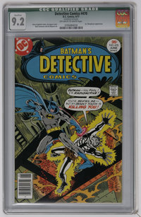 Detective Comics #470 (DC, 1977) CGC Qualified NM- 9.2 Off-white to white pages. Dr. Phosphorus appearance. Jim Aparo co...