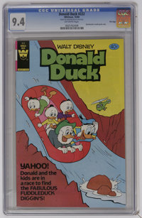 Donald Duck #222 File Copy (Whitman, 1980) CGC NM 9.4 Off-white pages. Very low distribution. Distributed in multi-packs...