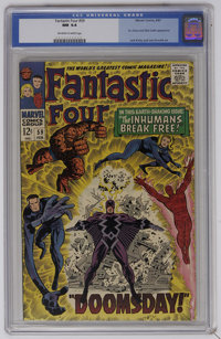 Fantastic Four #59 (Marvel, 1967) CGC NM 9.4 Off-white to white pages. The Inhumans break out of the Great Refuge. Docto...