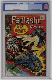 Fantastic Four #62 (Marvel, 1967) CGC NM- 9.2 Off-white to white pages. First appearance of Blastaar. Jack Kirby cover...
