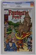 Fantastic Four #84 (Marvel, 1969) CGC NM- 9.2 Off-white pages. Doctor Doom is featured. Nick Fury appears. Jack Kirby co...