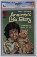 Silver Age (1956-1969):Miscellaneous, Four Color #1100 Annette's Life Story (Dell, 1960) CGC VF 8.0Off-white pages. Features the life story of Annette Funicello....
