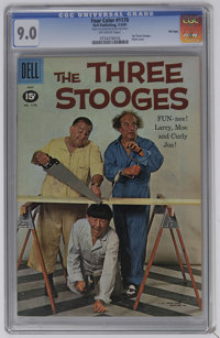 Four Color #1170 The Three Stooges - File Copy (Dell, 1961) CGC VF/NM 9.0 Off-white pages. Photo cover. Overstreet 2006...