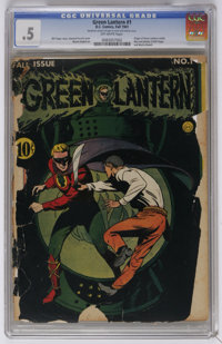 Green Lantern #1 (DC, 1941) CGC PR 0.5 Off-white pages. Origin of Green Lantern retold. Bios and photos of writer Bill F...