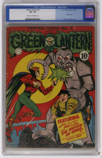 Green Lantern #7 (DC, 1943) CGC VG- 3.5 Cream to off-white pages. Martin Nodell robot cover and art. Overstreet 2006 VG...
