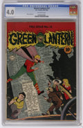 Golden Age (1938-1955):Superhero, Green Lantern #13 (DC, 1944) CGC VG 4.0 Off-white pages. Irwin Hasen cover. Martin Nodell art. Overstreet 2006 VG 4.0 value ...