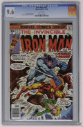 Bronze Age (1970-1979):Superhero, Iron Man #91 (Marvel, 1976) CGC NM+ 9.6 White pages. George Tuska and Bob Layton art. Overstreet 2006 NM- 9.2 value = $10. C...
