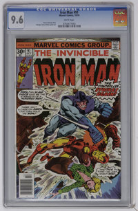 Iron Man #91 (Marvel, 1976) CGC NM+ 9.6 White pages. George Tuska and Bob Layton art. Overstreet 2006 NM- 9.2 value = $1...