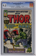Silver Age (1956-1969):Superhero, Journey Into Mystery #112 (Marvel, 1965) CGC NM- 9.2 Off-white pages. In this titanic cover story, Thor and the Incredible H...