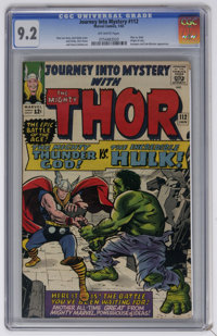 Journey Into Mystery #112 (Marvel, 1965) CGC NM- 9.2 Off-white pages. In this titanic cover story, Thor and the Incredib...