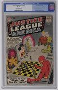 Silver Age (1956-1969):Superhero, Justice League of America #1 (DC, 1960) CGC GD- 1.8 Cream to off-white pages. This first issue of the long running title fea...