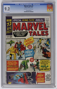 Marvel Tales #2 (Marvel, 1965) CGC NM- 9.2 Off-white to white pages. An exceptional copy of this square bound issue! Ove...