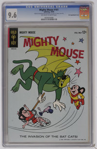"Mighty Mouse #161 Double Cover-File Copy (Gold Key, 1964) CGC NM+ 9.6 Off-white to white pages. CGC notes: ""first c..."