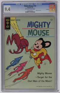 Mighty Mouse #163 File Copy (Gold Key, 1965) CGC NM 9.4 Off-white to white pages. Back cover pin-up. Overstreet 2006 NM-...