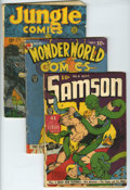 Miscellaneous Golden Age Superhero Group (Fox, Fiction House, and Quality, 1941). Included here are Samson #6 (FR), Wo...