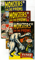 Bronze Age (1970-1979):Horror, Monsters on the Prowl #9 through 30 Group (Marvel, 1971-74). Thisgroup contains issues #9, 10, 11, 12, 13, 14, 15, 16, 17, ...(Total: 22)