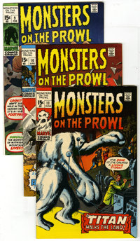 Monsters on the Prowl #9 through 30 Group (Marvel, 1971-74). This group contains issues #9, 10, 11, 12, 13, 14, 15, 16...