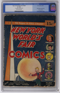 New York World's Fair Comics #1939 (DC, 1939) CGC GD- 1.8 Slightly brittle pages. First published appearance of the Sand...