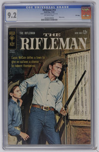 The Rifleman #13 File Copy (Gold Key, 1962) CGC NM- 9.2 Off-white pages. Photo cover of Chuck Connors. Overstreet 2006 N...