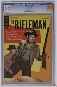 The Rifleman #17 File Copy (Gold Key, 1963) CGC NM- 9.2 Off-white to white pages. Photo cover of Chuck Connors. Overstre...