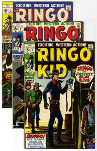 The Ringo Kid #1-11 Group (Marvel, 1970-71) Condition: Average FN/VF. Group of eleven comics featuring The Ringo Kid inc...