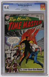 Rip Hunter Time Master #12 (DC, 1963) CGC NM 9.4 Off-white to white pages. Bill Ely cover and art. Overstreet 2006 NM- 9...