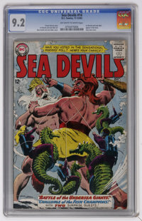 Sea Devils #14 (DC, 1963) CGC NM- 9.2 Off-white to white pages. Russ Heath cover. Irv Novick and Jack Abel art. Novick a...