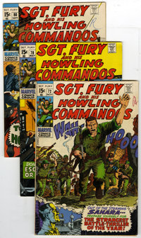 Sgt. Fury and His Howling Commandos Group (Marvel, 1966-74) Condition: Average VG/FN. Lot of 25 Sgt. Fury and His Howlin...
